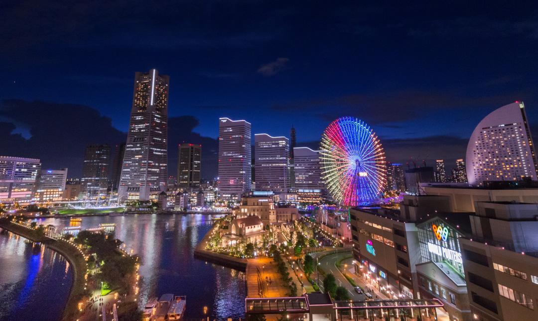 横浜ならではの海と夜景を一望
